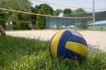 מגרש כדורעף על הדשא